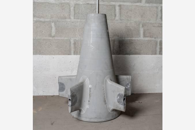 ATAR-9-snecma-mirage-III-cone-sortie-turbine-aviation-decoration-exhaust-cone-vue-ensemble